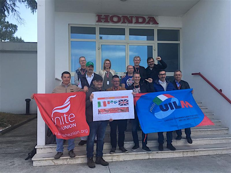 Atessa Alla Honda Italia Il Coordinamento Del Movimento Sindacale